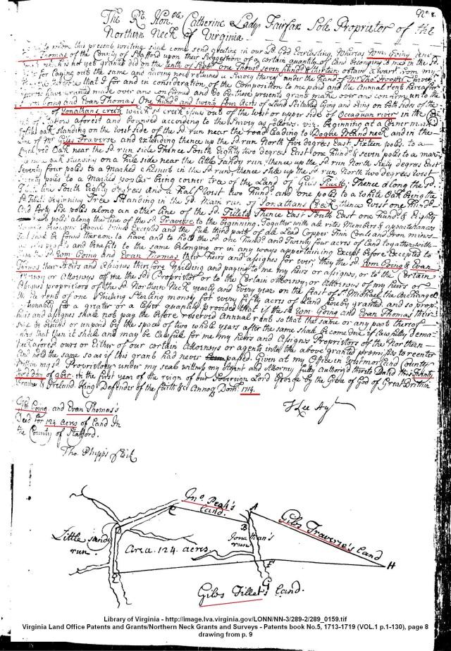 1713 Sept 10 William Going grant staffordcova1