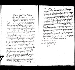 1729 Thomas Going owns land adj to Col George Mason, Simon Pearson, Parson Brechin in Stafford Co, Va MARKED
