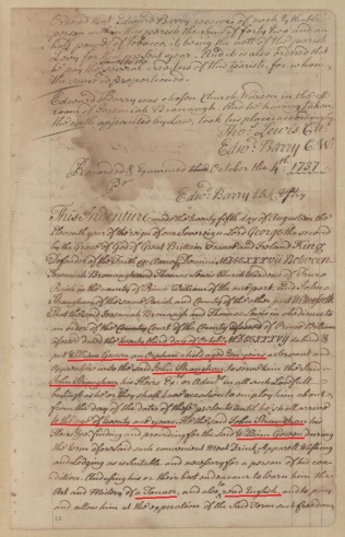 1737 Oct 23 William Gowen and orphan bound to Straughan until 21 yrs