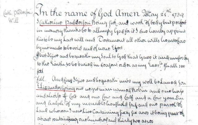 1739 Catherine Padderson will p1