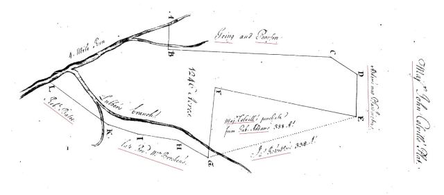 1739 James Going living adjacent to John Colville grant in Stafford Co Va snip and marked 2