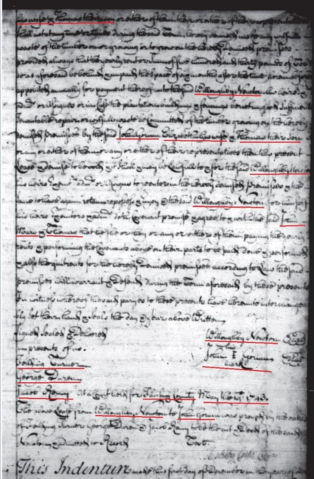 1740 Newton 200a lease to John Gowen and Thomas Gowen in Fairfax Co Va p2