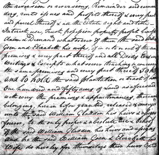 1769 William Goyne to Gladden 150a in SC 4