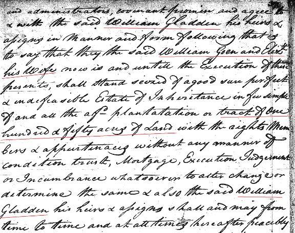 1769 William Goyne to Gladden 150a in SC 5