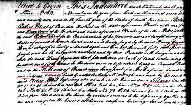 1779 Robt Elliot to Drury Goyen snip 1
