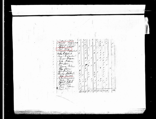 1800 US Census in Chester w Job Going