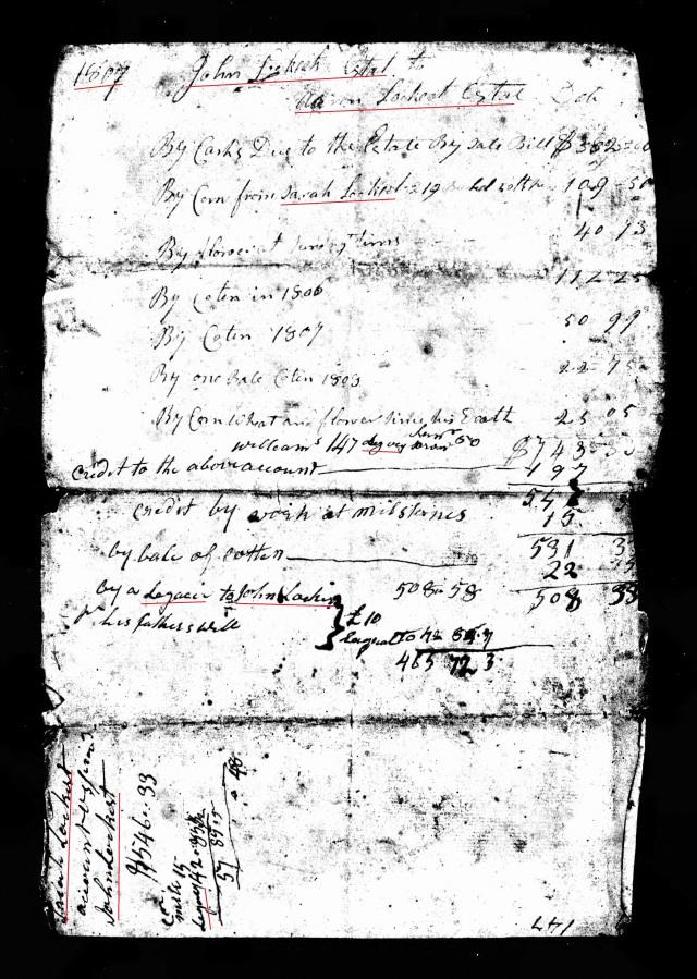 1807 John Lockert appraise probate