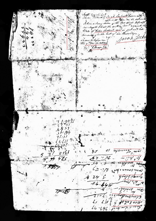 1810 John Lockert account probate