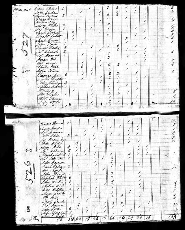1810 US Census Chester SC with Job Goyen and Sarah Goyen
