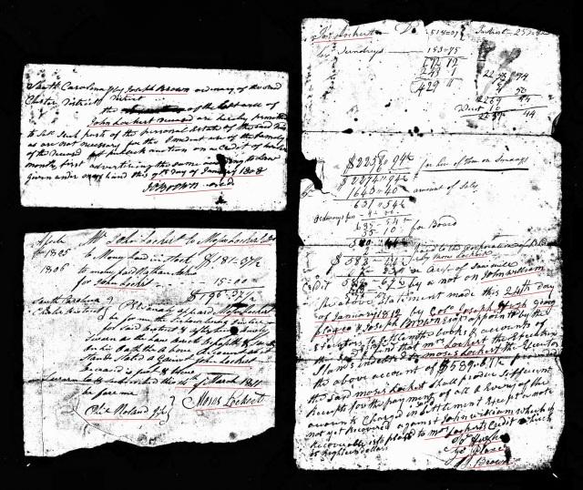 1812 John Lockert account and orders probate