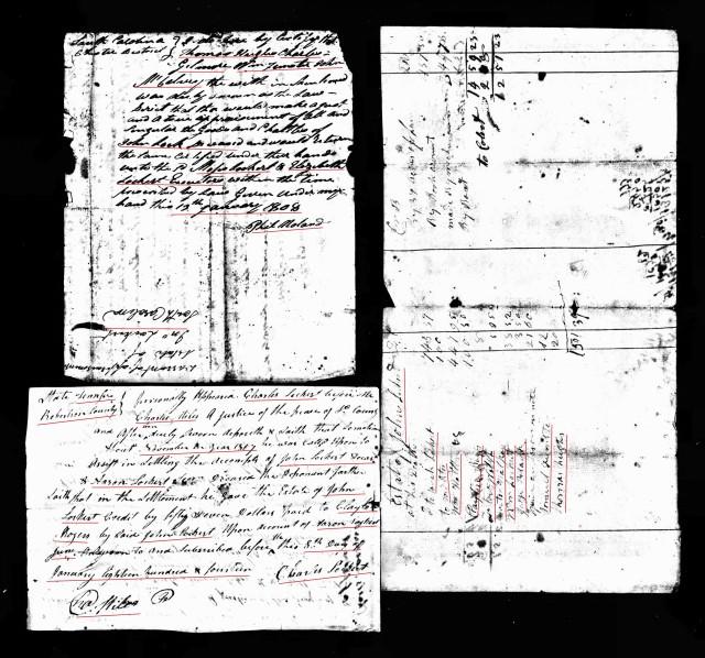 1814 John Lockert account probate