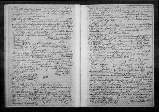 1816 will for William Goyne in Georgia