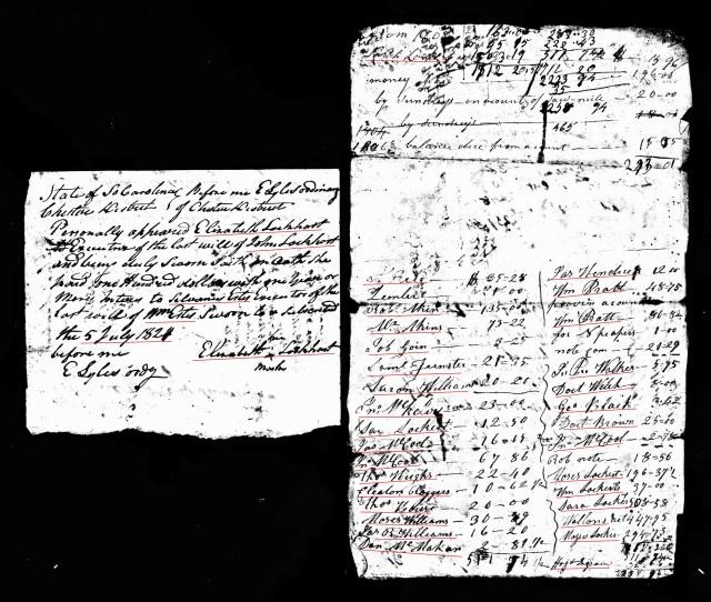 1821 John Lockert account probate