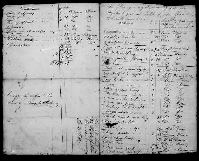 1824 Plaxco, Docea admx John Plaxco will 4