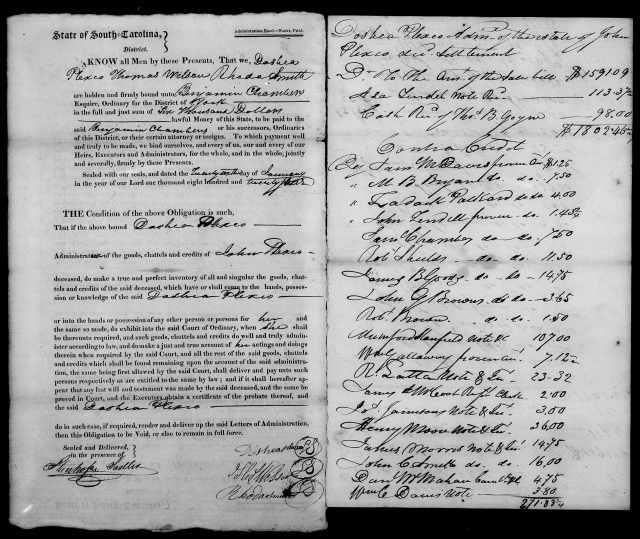 1824 Plaxco, Docea admx John Plaxco will 6