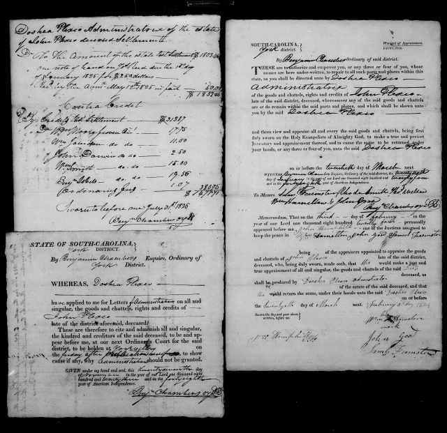 1824 Plaxco, Docea admx John Plaxco will 9