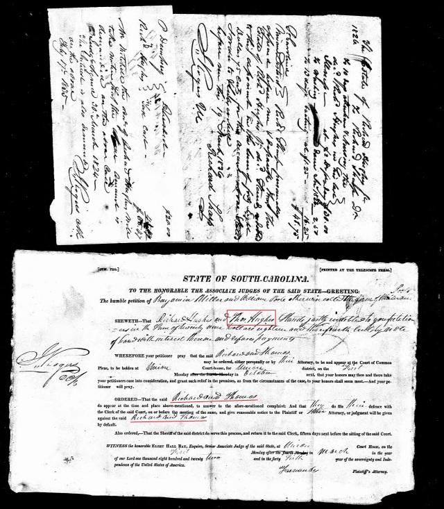 1824 SC Fairfield Co Richard Hughes probate w Thos Hughes and Richard Hughes named