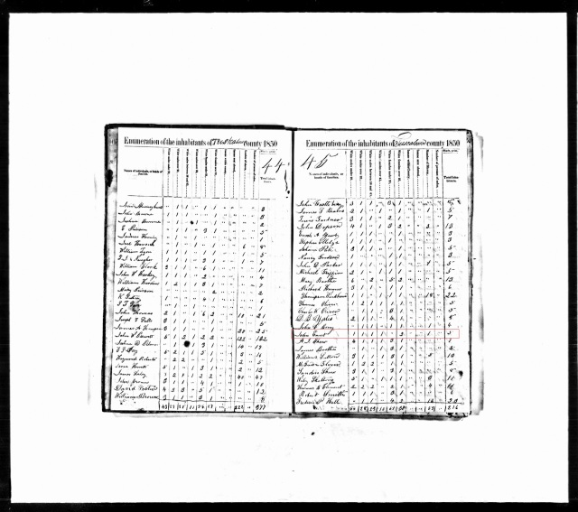 1850 Tuscaloosa Ala census w John Ennett
