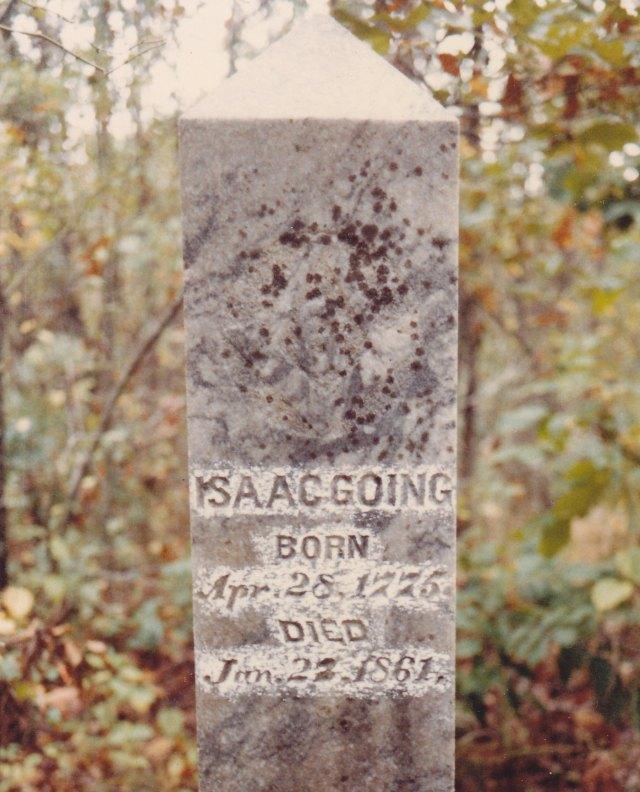 1861 Isaac Going headstone