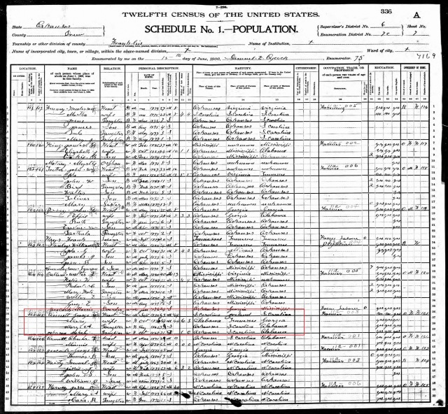 1900 US Census in Drew Co Ark w George Annett