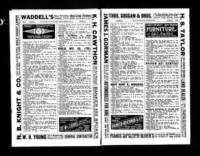 1913 Houston City Directory