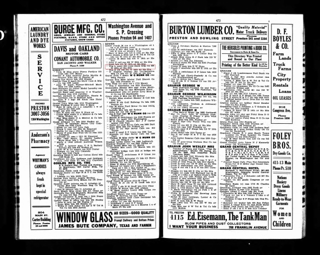 1917 Houston Directory