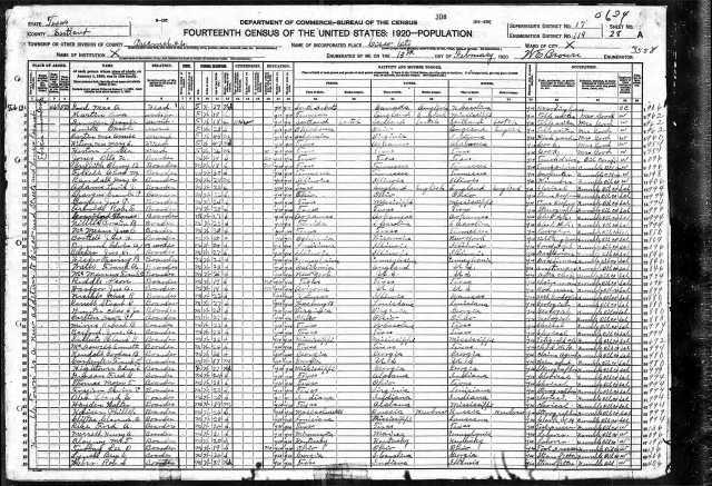 1920 US Census