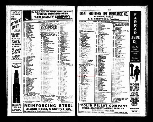1926 Houston Directory