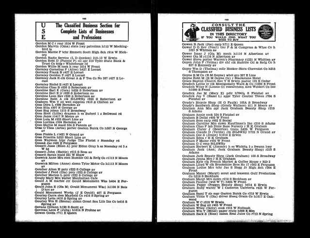 1934 Tyler City Directory