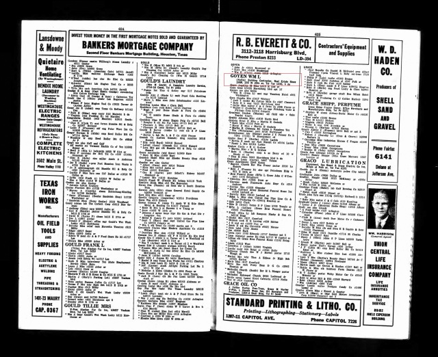1937 Houston City Directory