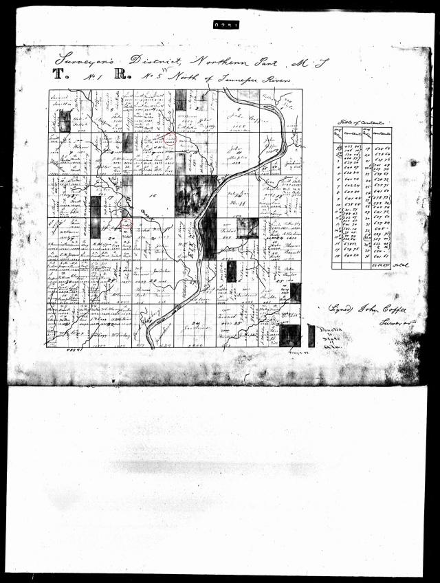 Asa Tindall land plat in Alabama map