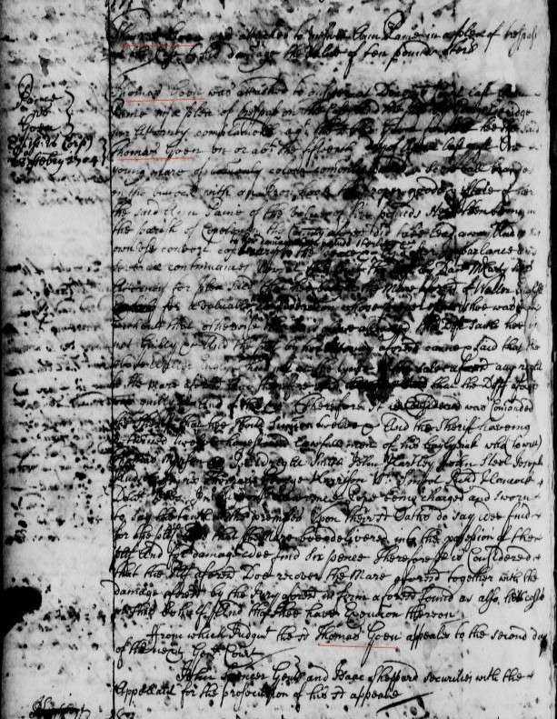 Virginia – Westmoreland County – 1700s to early 1800s
