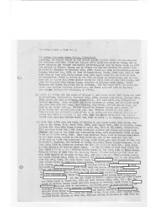 Goyen family geneaology from 1958 done by Mrs Elmer Adams_Page_2 redacted info