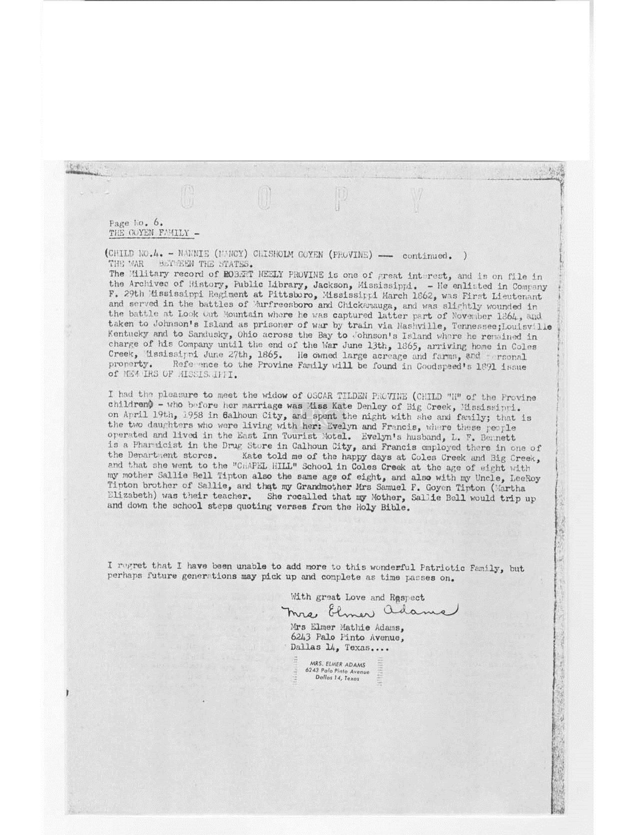 1854 martha elizabeth goyen m samuel franklin tipton goyen goyen family geneaology from 1958 done by mrs elmer adamspage6 aiddatafo Choice Image