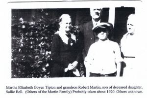 Martha Elizabeth Goyen pic in 1920 w Robert Martin son of Sallie Bell