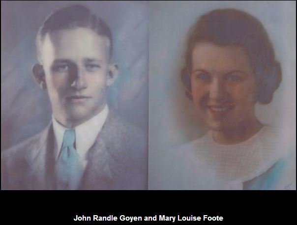 Mary Louise Foote and John Randle Goyen