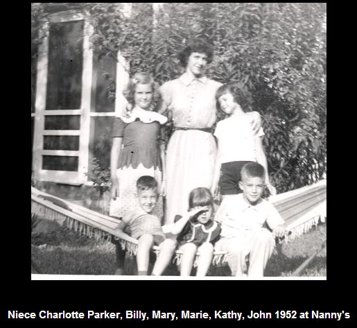 Mary Louise with her children and niece in 1952 at Nanny's