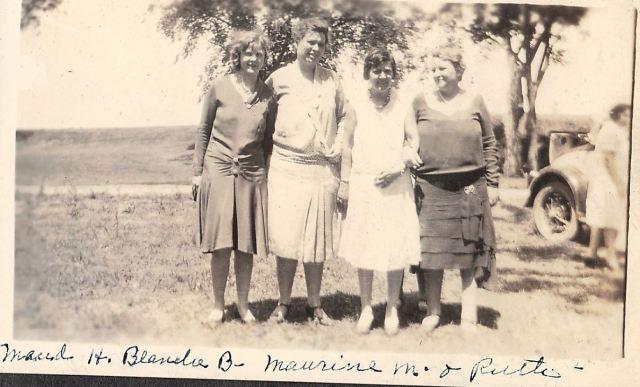 Maud H w Blanche B w Maurine Moon w Ruth Goyen