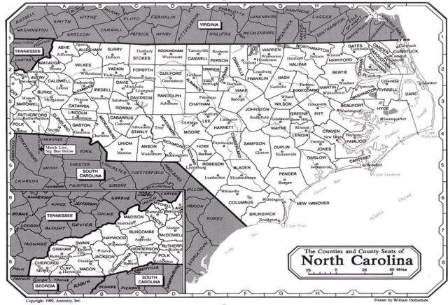 NC VA SC counties current