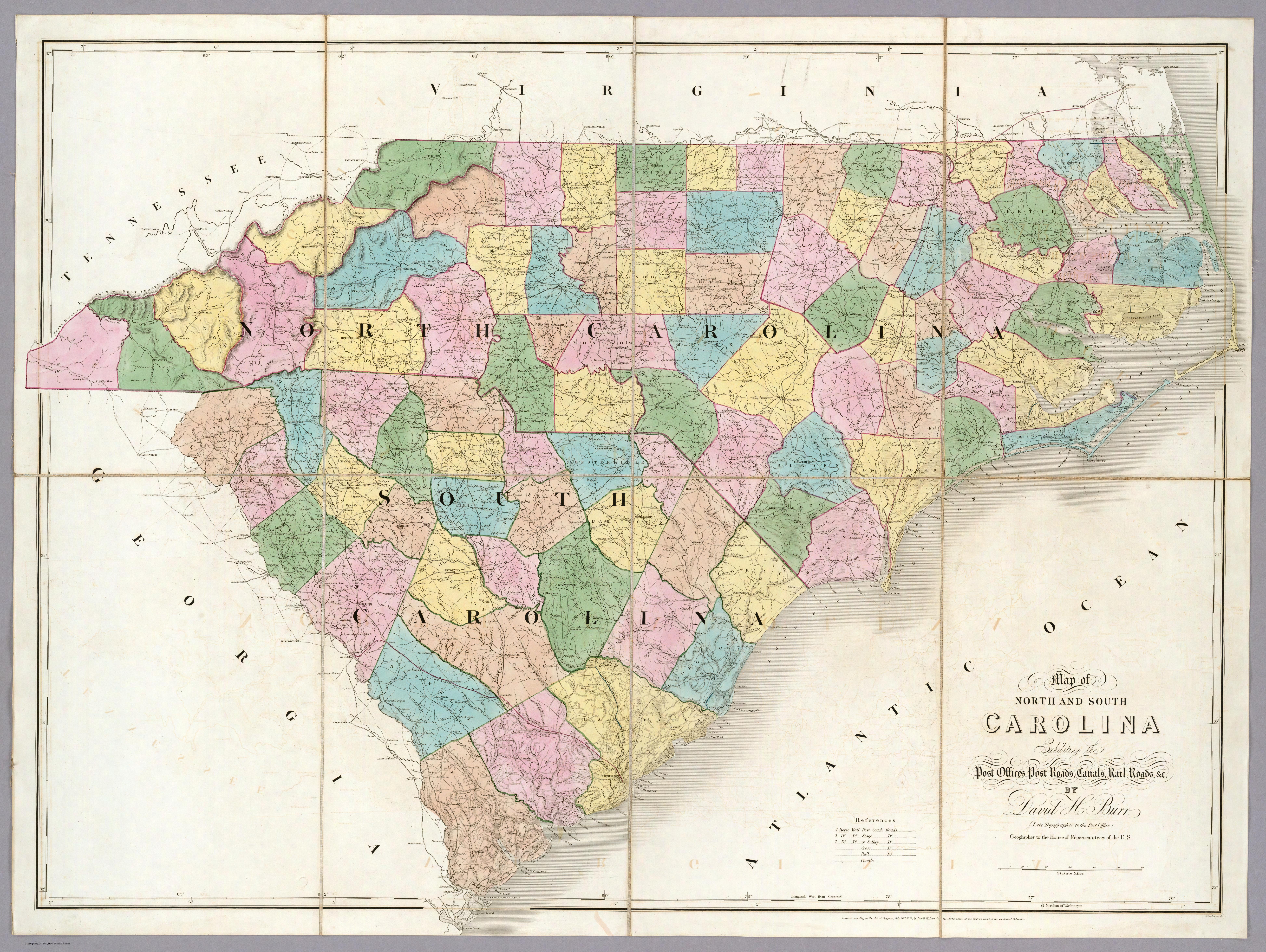 Map North Carolina and South Carolina county connections | Goyen ...