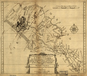 Northern Neck Map 1736-1737