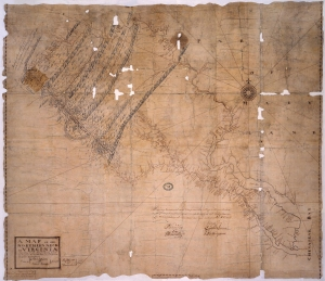 A Map of the Northern Neck in Virginia, according to an actual survey begun in 1736 and ended in 1746. Drawn by Peter Jefferson, Robert Brooke, Benjamin Winslow and Thomas Lewis, Surveyors. MS. 1 inch to 5 miles