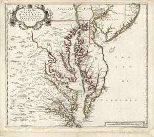 Virginia 1700 map