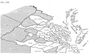 Virginia counties 1741 to 1750