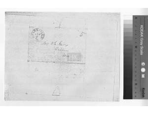 W W Goyen or Goings letters written to McCluney family in September 1851 envelope plus original ltr plus transcr_Page_1
