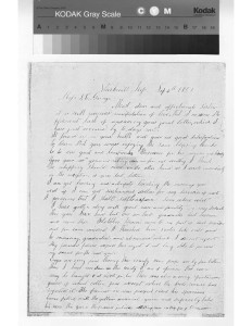 W W Goyen or Goings letters written to McCluney family in September 1851 envelope plus original ltr plus transcr_Page_2