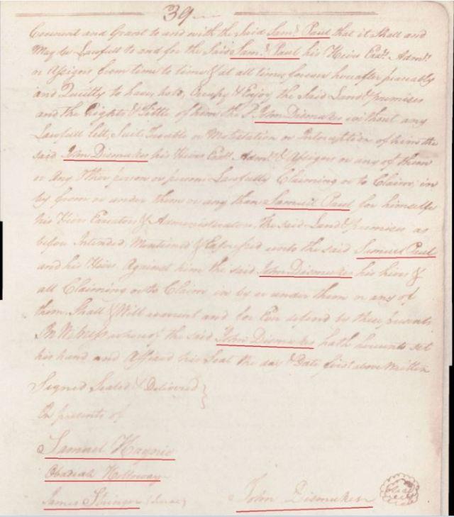 1762 Apr 7 Wm Gladden conveys to Alexander Going in NC p2