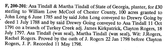 1791 Drewry Going convey prop to Asa Tindall