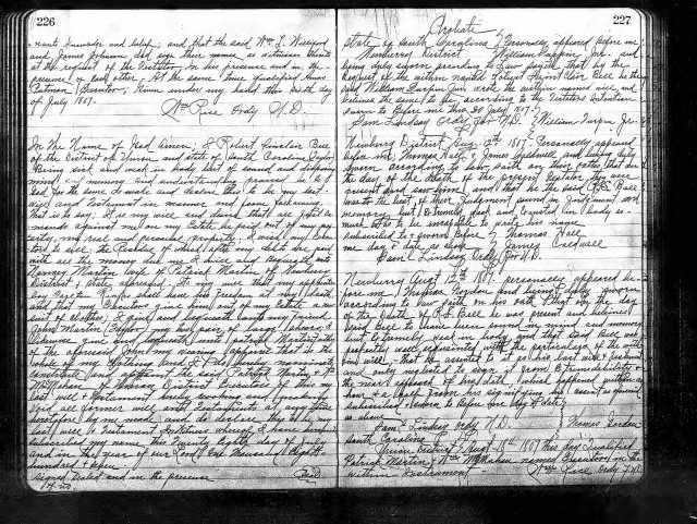 1807 Robert S Bell will SC