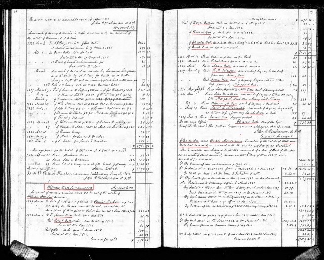 1829 to 1832 William Bell accounting in court minutes p1